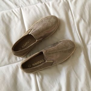 Shoes - KAANAS Gold Espadrilles (Never Worn)